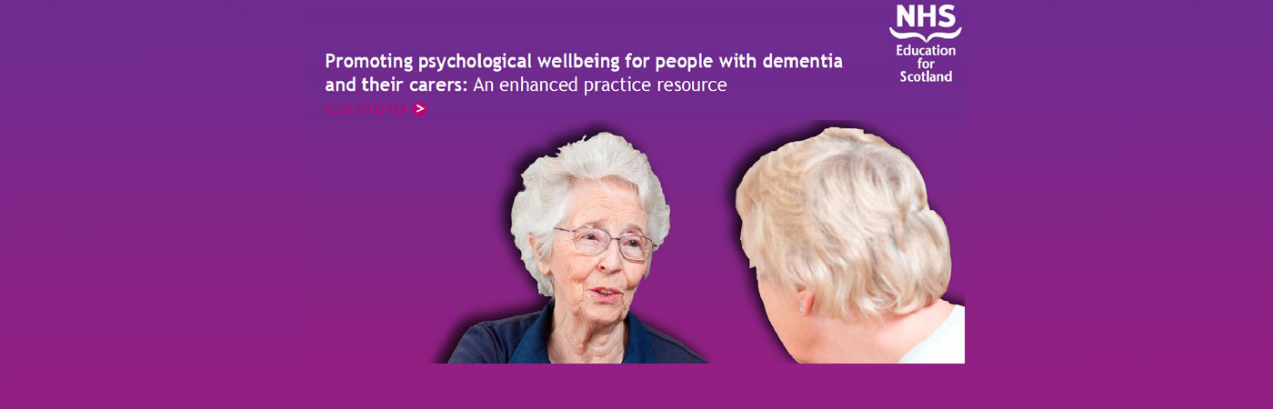 Promoting psychological wellbeing for people with dementia and their carers. An enhanced practice resource – based on work originally developed by Professor Bob Woods and Dr. Michael Bird.
